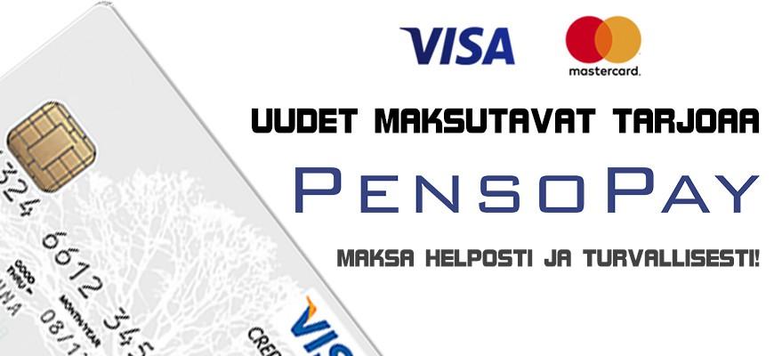 Uudet maksutavat tarjoaa PensoPay